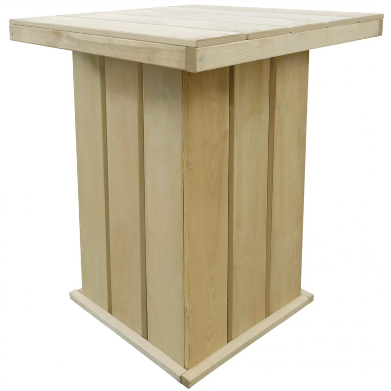 VidaXL Meubles de jardin Table de bar 75x75x110 cm Pin imprégné FSC