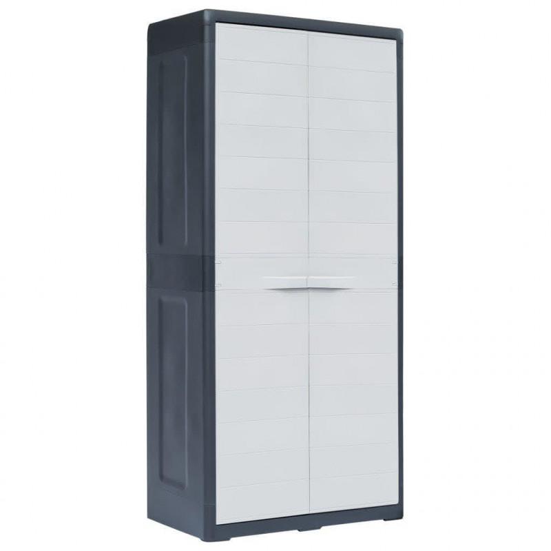 VidaXL Armoires et meubles de rangement Armoire de rangement de jardin XL  78x46x175 cm Plastique