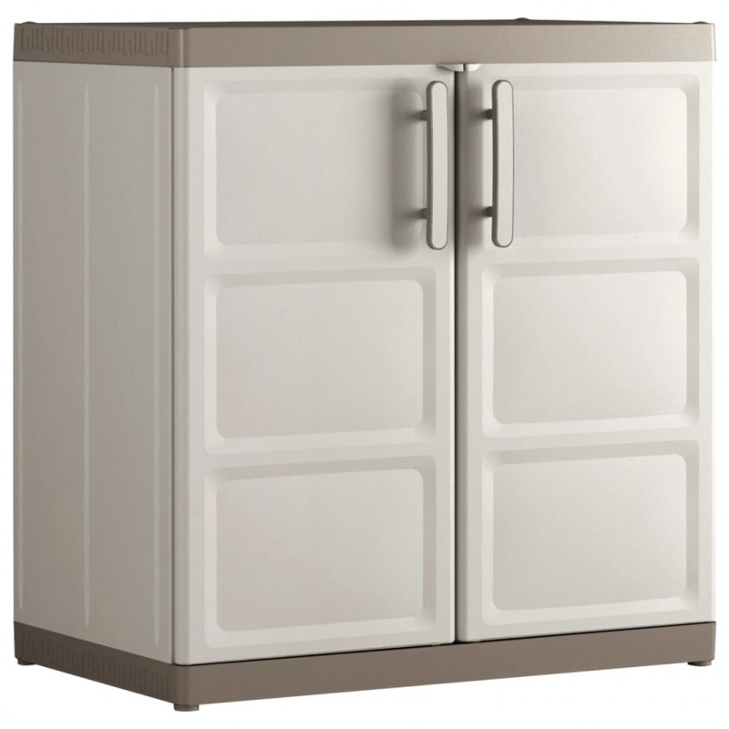 Keter Armario base Excellence XL beige y gris topo 89x54x93 cm
