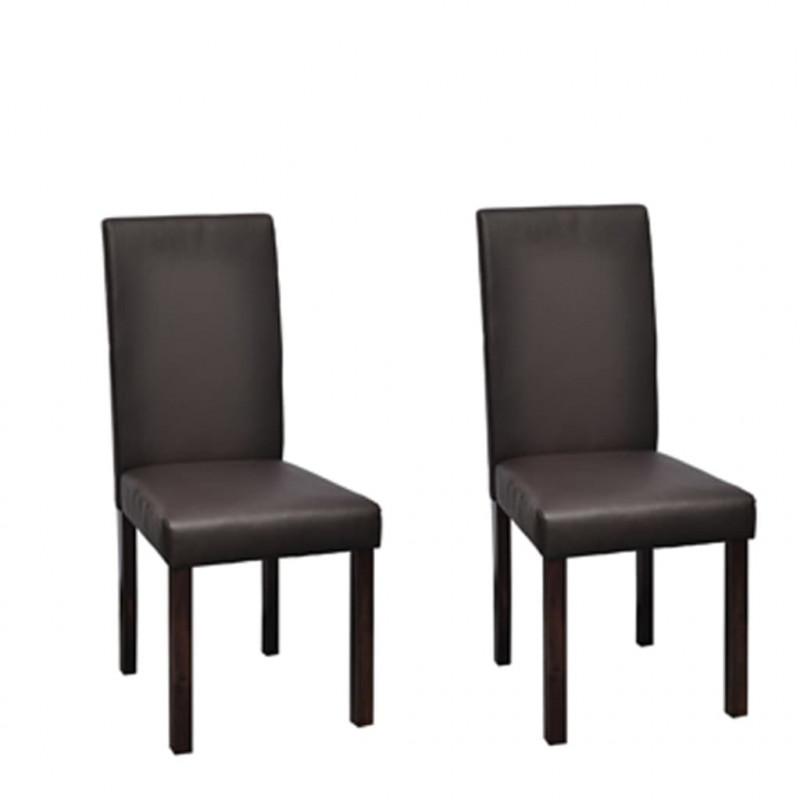 VidaXL 2 pz sedie sala da pranzo in pelle artificiale marrone - Epto