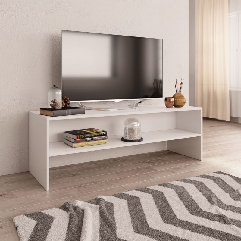 VidaXL Arredamento Casa Cucina Mobile TV Bianco 120x40x40 cm in Truciolato
