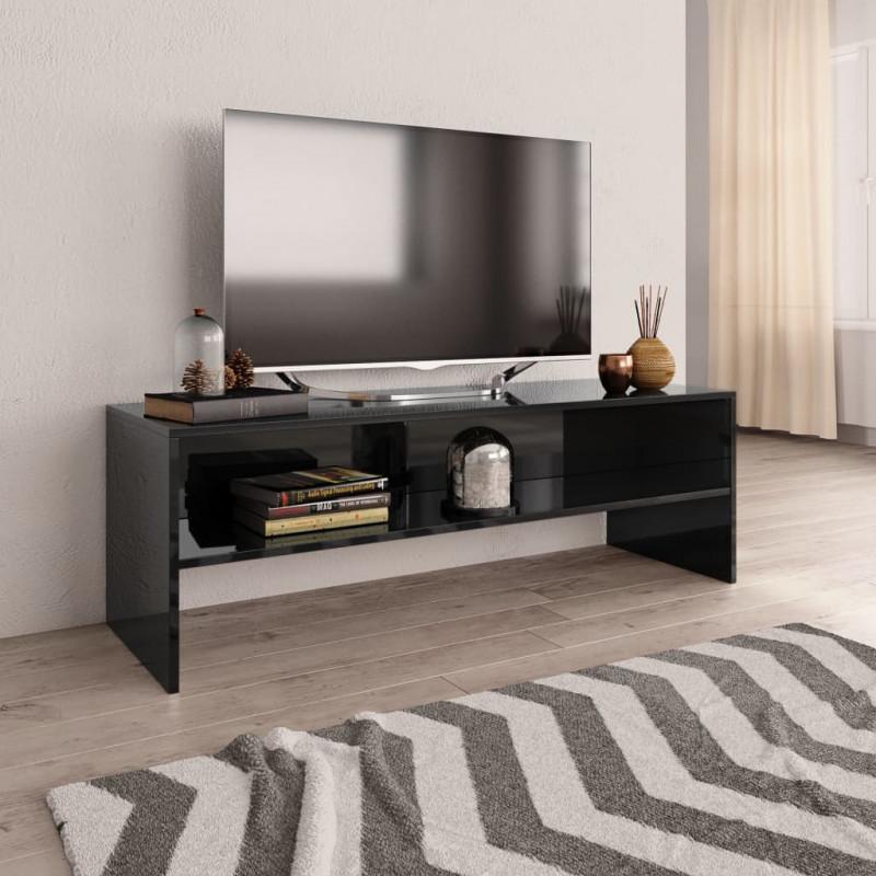 VidaXL Arredamento Casa Cucina Mobile TV Nero Lucido 120x40x40 cm in  Truciolato
