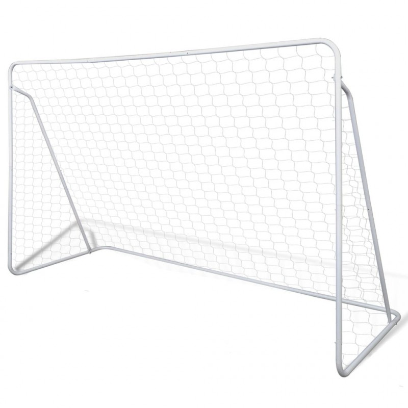 VidaXL Cage de but de football 240 x 90 x 150 cm Acier