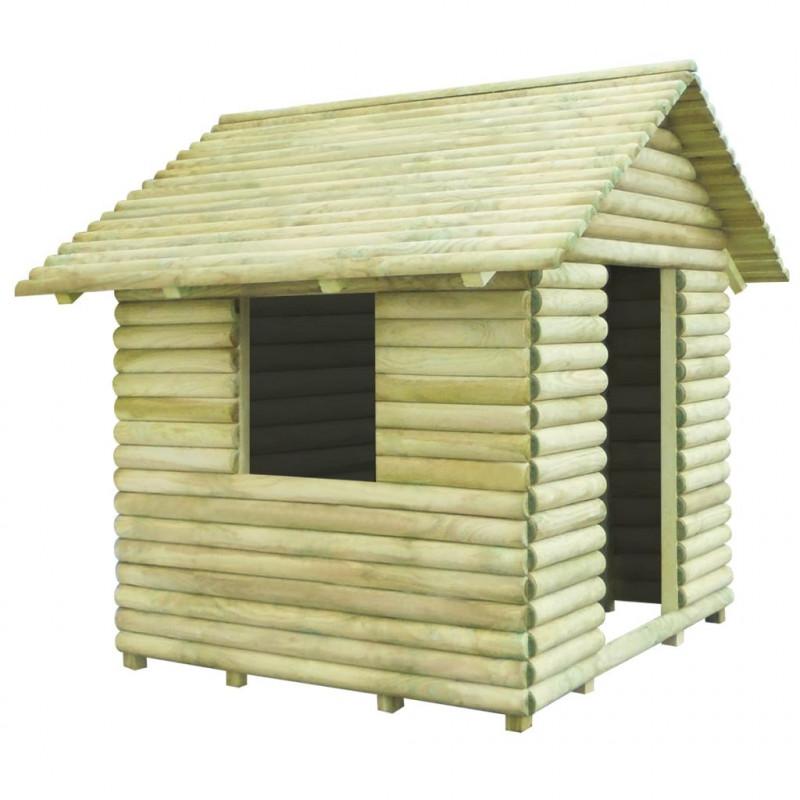 Vidaxl vx91229 casa de juegos de madera de pino impregnada - Casas de madera de pino ...