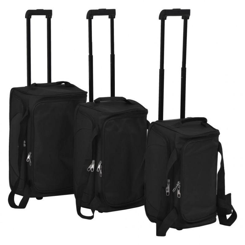 04a295536 Juego de 3 maletas negras. Con este juego de 3 maletas, podrá llevarse  consigo todo lo que necesita cuando viaje. Gracias a los diferentes tamaños  de estas ...
