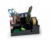 1737-N DESK ORGANIZER IN ABS NERO Accessori Scrivania E Ambiente