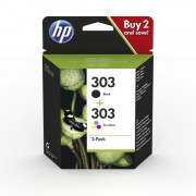 HP Hewlett Packard HP 303  INK CARTRIDGE COMBO 2-PACK CARTUCCE JET BASSO VOLUME