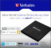 Verbatim Blu Ray Writer 4K MOBILE BLU-RAY TYPE.C Disk