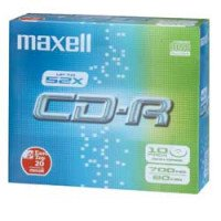 Maxell 624003 CDR 700MB 52X SLIM CASE CONF.10 S CD-R 80 MINUTI