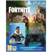 Sony PS4 DUALSHOCK JET BLACK + FORTNITE