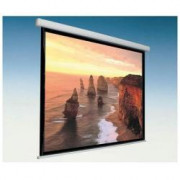 SCREEN 240X198 CANVAS MATTWHITE MOTORIZED WITH BLACK EDGES