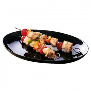Piatto barbecue33x25 BLACK T0003619 (conf. da 6 pz.)