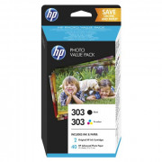 HP Hewlett Packard Pack 303 HP NERA TRICOL CARTA PICCOLO FORMATO LASER