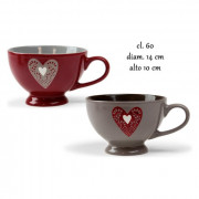 Tazza jumbo 60 cl Love (conf. da 5 pz.)