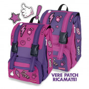 Double Backpack Patch girl  FUXIA Zaini