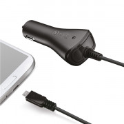 CAR CHARGER 1A MICROUSB BK