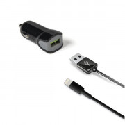 Celly CAR CHARGER + LIGHTNING CABLE [TURBO]