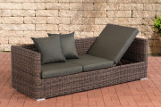 Lounge-Divano Solano 5mm - antracite marrone screziato