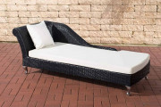Chaiselongue Savannah bianco crema - bianco crema nero