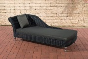 Chaiselongue Savannah 5mm - antracite nero