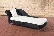 Chaiselongue Savannah 5mm - bianco crema nero