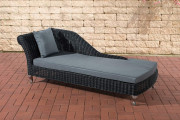 Chaiselongue Savannah 5mm - grigio ferro nero
