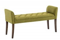 Chaiselongue Cleopatra, bruno antico verde