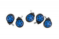 5er Pack Racing Bodenrollen nero-blu