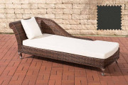 Chaiselongue Savannah - antracite marrone screziato