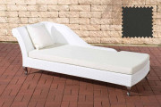 Chaiselongue Savannah - antracite bianco
