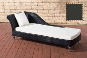 Chaiselongue Savannah - antracite nero