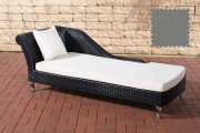 Chaiselongue Savannah - grigio ferro nero
