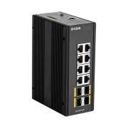 12 PORT L2 MANAGED SWITCH WITH 8X10/100/1000BASET(X) PORTS IN