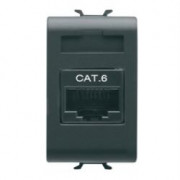 CONNETTORE RJ45 1M CAT.6 UTP NERO