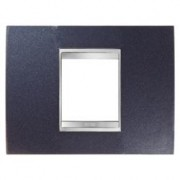 PLACCA LUX 2P METAL.BLU CHIC