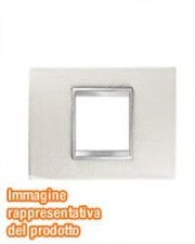 PLACCA LUX 2P PELLE BIANCO
