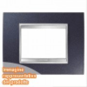 PLACCA LUX 3P METAL.BLU CHIC