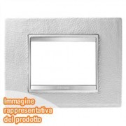 PLACCA LUX 3P PELLE BIANCO