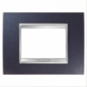 PLACCA LUX 4P METAL.BLU CHIC