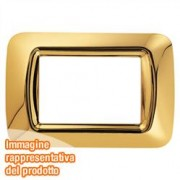 PLACCA 2 POS.ORO ANTICO TOP SYSTEM