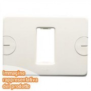 PLACCA 2 POS.BIANCO COMPACT