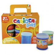 Carioca FINGER PAINTS CF6 VASETTI 80ML TEMPERA DITA ASS. Da 6