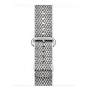 38MM WHITE CHECK WOVEN NYLON