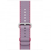 ¿42MM BERRY CHECK WOVEN NYLON