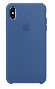Cover iPhone XS Max SILICONE - BLU