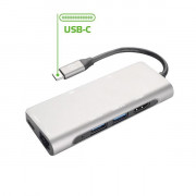 USB-C ADAPTER [PRO HUB] HUB TYPEC TO USB USBC HDMI LAN