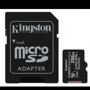 Kingston SDCS2256GB 256GB MICROSDXC CANVAS SELECT 100R A1 C10 CARD + SD ADAPTER