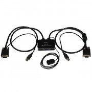 SWITCH COMMUTATORE KVM USB VGA 2 PORTE -ALIMENTATO