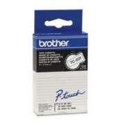 Brother CASSETTE NASTRI 12MM NERO SU BIANCO