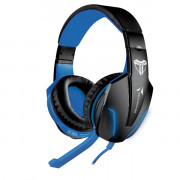 TECHMADE CUFFIE GAMING MULTIMEDIALI BLU